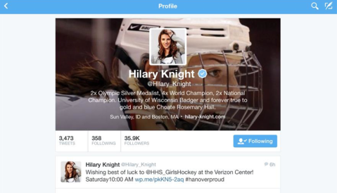 Best wishes from Hilary Knight!
