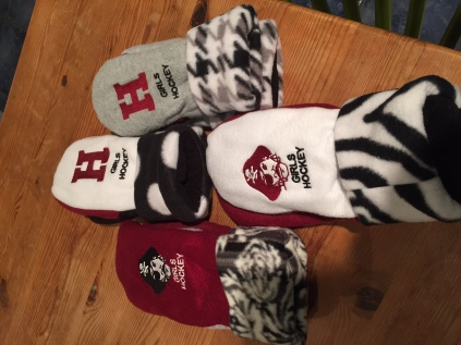 Mittens, mittens, mittens -- let the icy cold season begin!  On sale soon at an HHS girls hockey event near you!