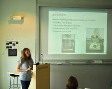 Emma presenting her summer research